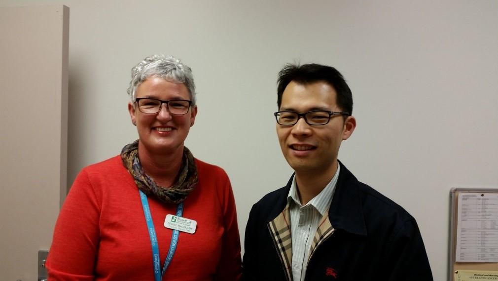 Dr. David Lee, FLS Lead Clinician, and Denise Mackenzie, Fracture Liaison Clinical Nurse Specialist